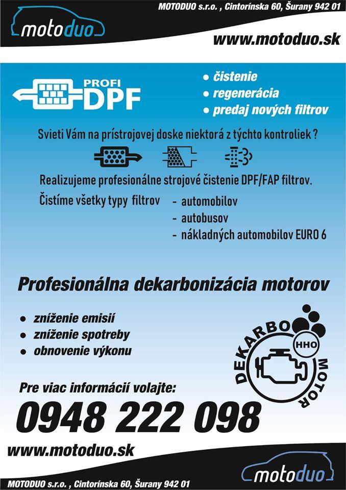 Filter pevných častíc DPF